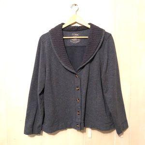 L.L. Bean Sweatshirt Sweater Jacket Women's XL